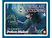 Intricate Coloring 4: A Day in the Life of a Potion Maker